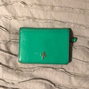 Cole Haan green leather wallet